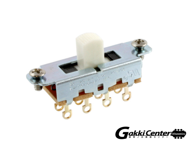 Allparts Switchcraft White On-Off-On Slide Switch/1012