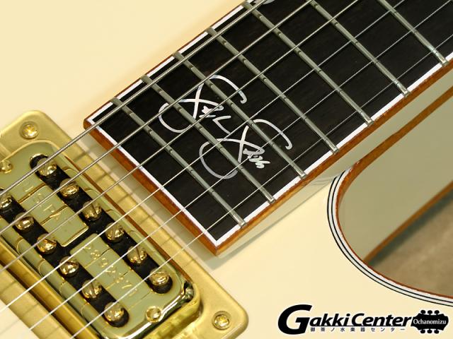 グレッチ ホワイトファルコン シグネイチャー・モデルステファン・スティルス G6136-1958の20フレット部分のサインの画像です。