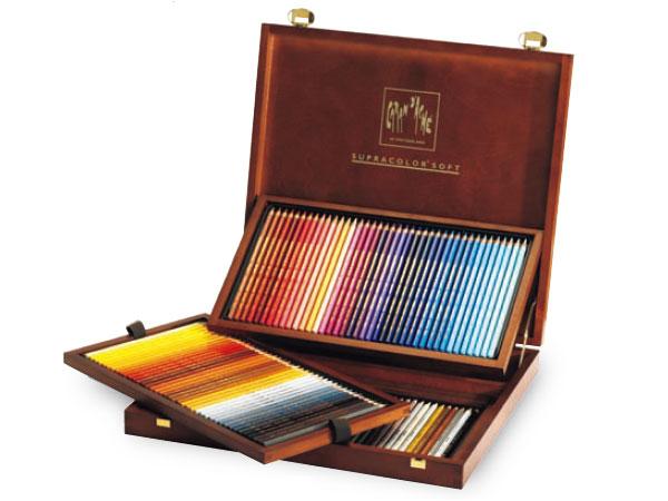 カランダッシュ スプラカラーソフト(水溶性色鉛筆) 120色木箱セット