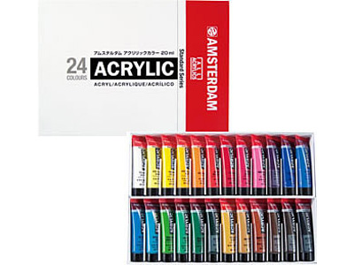 アムステルダム アクリリック24色セット 20mlチューブ