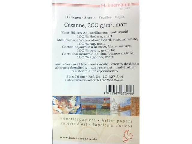 ハーネミューレ セザンヌ水彩紙 中目 300g 560×760 5枚組