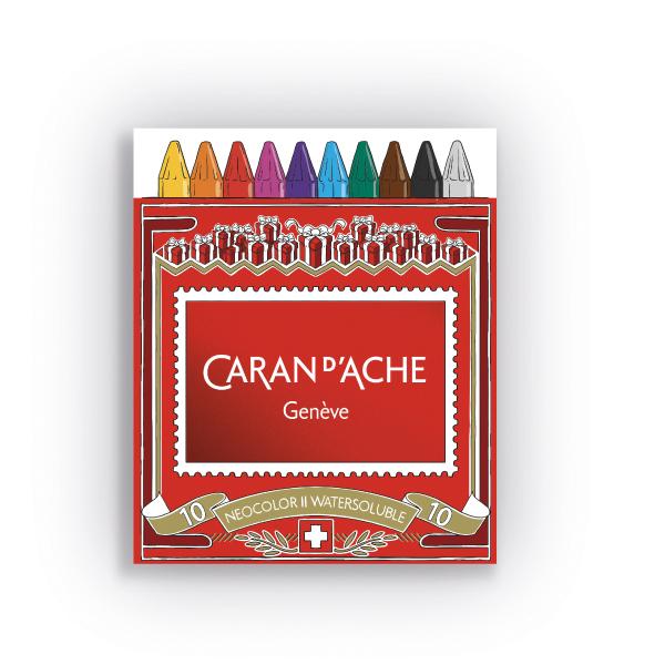 カランダッシュ ネオカラー2 10色セット(水溶性パステル)<クリスマスパッケージのスリーブ付>