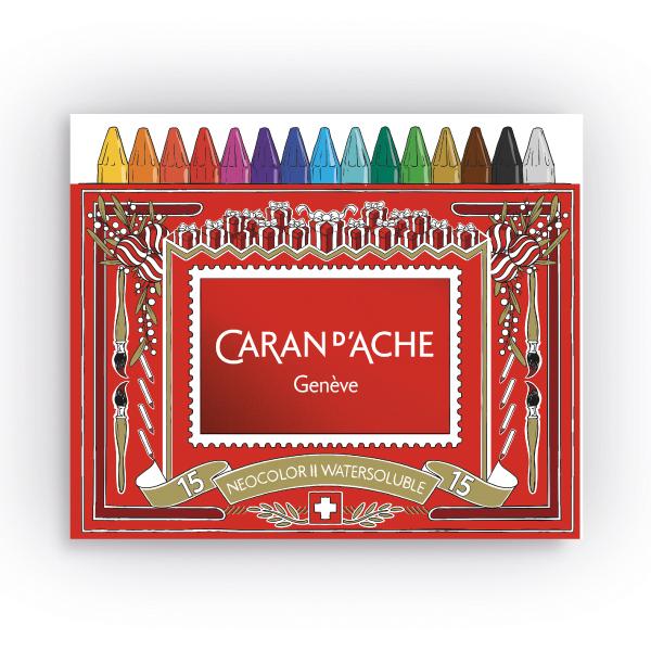 カランダッシュ ネオカラー2 15色セット(水溶性パステル)<クリスマスパッケージのスリーブ付>