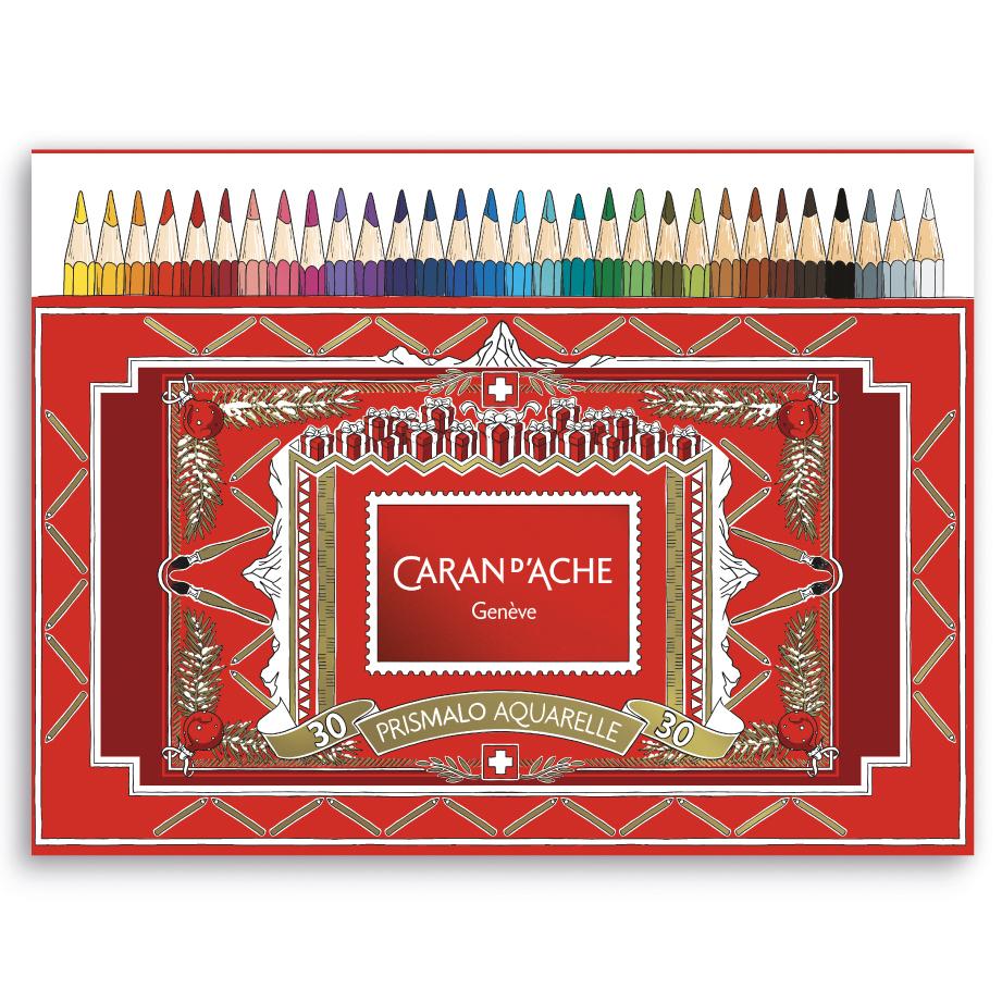 カランダッシュ プリズマロ(水溶性色鉛筆・堅芯) 30色セット<クリスマスパッケージのスリーブ付>