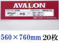 アヴァロン 水彩紙  中目 300g 560×760mm 20枚組