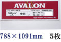 アヴァロン 水彩紙  中目 300g 788×1091mm 5枚組