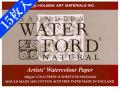 【15枚入り!】ウォーターフォード水彩紙 F6 ナチュラル ブロック中目[スケッチブック]