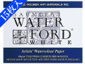 【15枚入り!】ウォーターフォード水彩紙 F6 ホワイト ブロック中目[スケッチブック]