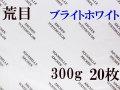 アルシュ水彩紙 ブライトホワイト 荒目 300g 560×760mm 20枚組