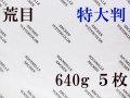 アルシュ 水彩紙 荒目 640g 1,050×750 5枚