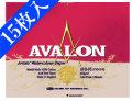 アヴァロン水彩紙 AVB-F6 中紙300g(中厚口) ブロック 中目 15枚入[スケッチブック]
