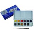 W&N コットマン 水彩絵具 ハーフパン12色 スケッチャーズポケットボックス
