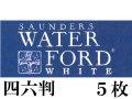 ウォーターフォードホワイト水彩紙<中厚口>300g(788×1091mm) 5枚組 中目