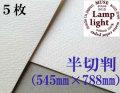 ランプライト水彩紙 半切判(545×788mm) 厚さ300g 5枚
