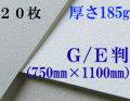 モンバル水彩紙 中目<厚さ185g>GE判(1,100mm×750mm) 20枚