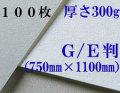 モンバル水彩紙 中目<厚さ300g>GE判(1,100mm×750mm) 100枚