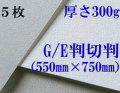 モンバル水彩紙 中目<厚さ300g>半切判(550mm×750mm) 5枚