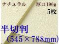 ミューズ ナチュラルワトソン<厚口190g>半切判(545×788mm) 5枚