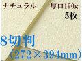 ミューズ ナチュラルワトソン<厚口190g>8切判(272×394mm) 5枚