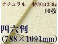 ミューズ ナチュラルワトソン<特厚口239g>四六判(1,091mm×788mm) 10枚