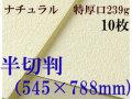ミューズ ナチュラルワトソン<特厚口239g>半切判(545×788mm) 10枚
