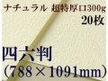 ミューズ ナチュラルワトソン<超特厚口300g>四六判(1,091mm×788mm) 20枚
