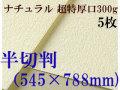 ミューズ ナチュラルワトソン<超特厚口300g>半切判(545×788mm) 5枚