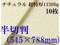ミューズ ナチュラルワトソン<超特厚口300g>半切判(545×788mm) 10枚