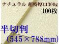 ミューズ ナチュラルワトソン<超特厚口300g>半切判(545×788mm) 100枚