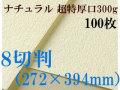 ミューズ ナチュラルワトソン<超特厚口300g>8切判(272×394mm) 100枚