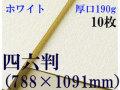 ミューズ ホワイトワトソン<厚口190g>四六判(1,091mm×788mm) 10枚