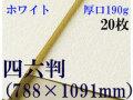 ミューズ ホワイトワトソン<厚口190g>四六判(1,091mm×788mm) 20枚