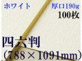 ミューズ ホワイトワトソン<厚口190g>四六判(1,091mm×788mm) 100枚