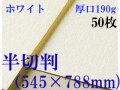 ミューズ ホワイトワトソン<厚口190g>半切判(545×788mm) 50枚