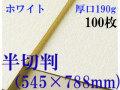 ミューズ ホワイトワトソン<厚口190g>半切判(545×788mm) 100枚