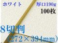 ミューズ ホワイトワトソン<厚口190g>8切判(272×394mm) 100枚