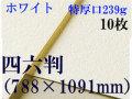ミューズ ホワイトワトソン<特厚口239g>四六判(1,091mm×788mm) 10枚