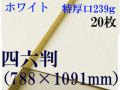 ミューズ ホワイトワトソン<特厚口239g>四六判(1,091mm×788mm) 20枚
