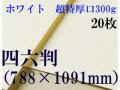 ミューズ ホワイトワトソン<超特厚口300g>四六判(1,091mm×788mm) 20枚