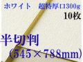 ミューズ ホワイトワトソン<超特厚口300g>半切判(545×788mm) 10枚