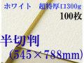 ミューズ ホワイトワトソン<超特厚口300g>半切判(545×788mm) 100枚