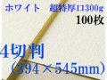 ミューズ ホワイトワトソン<超特厚口300g>4切判(394×545mm) 100枚