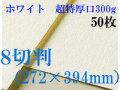 ミューズ ホワイトワトソン<超特厚口300g>8切判(272×394mm) 50枚