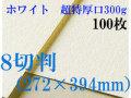 ミューズ ホワイトワトソン<超特厚口300g>8切判(272×394mm) 100枚