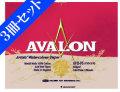 【お得な3冊セット】アヴァロン水彩紙 AVB-F4 ブロック 中目 12枚入[スケッチブック] 3冊