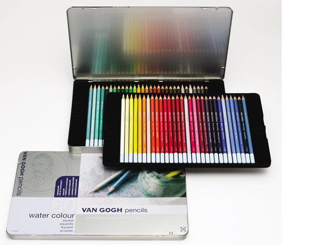 ヴァンゴッホ水彩色鉛筆60色セット