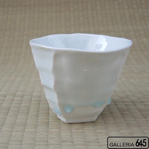 雫(しずく)釉湯呑:山本文雅:007081
