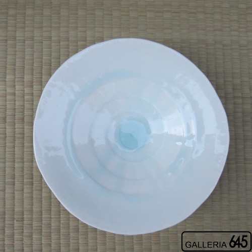 雫(しずく)釉高台皿:山本文雅:007087