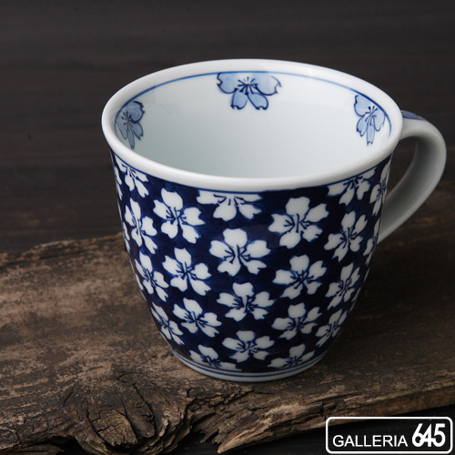 マグカップ(大)青濃桜:津上是隆:015041