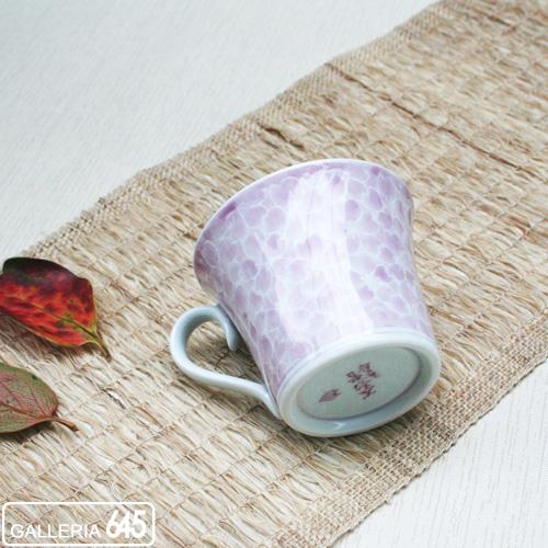 墨はじき桜(マロン)珈琲碗皿:津上是隆:015068
